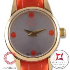 Orologio Corallium 20mm movimento svizzero con corallo id00w