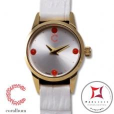 Orologio Corallium 20mm movimento svizzero con corallo id03w
