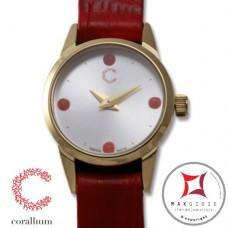 Orologio Corallium 20mm movimento svizzero con corallo id04w