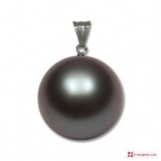 Pendente Perle Akoya grigio silver Extra 8-8½mm in Oro 18K