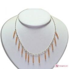 Collana e Orecchini Perle rosa 3½mm in Argento