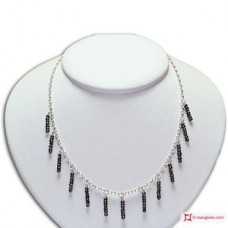 Collana e Orecchini Perle griglie 3½mm in Argento