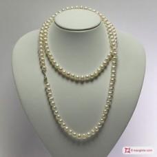 Collana Perle coltivate 7½-8mm L100 in Argento