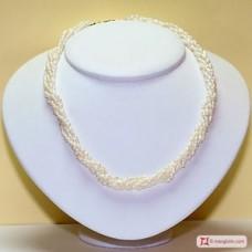 Torchon di Perle Naturali a 5 fili in Argento