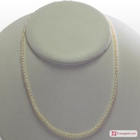 Collana Perle Extra pallini 3-3½mm in Argento