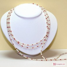 Collana Perle e Corallo L. 2 metri in Argento