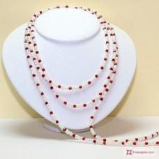 Collana Perle e Cristallo L. 2 metri in Argento