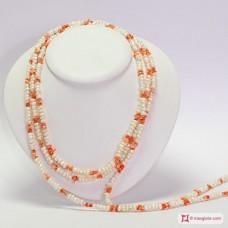 Collana Perle e Corallo Misu L. 2 metri in Argento