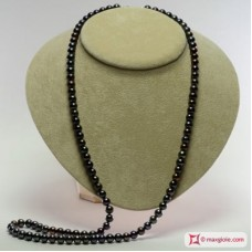 Collana Perle nero multitone Extra 7-7½mm in Oro 18K