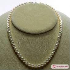 Collana Perle bianche TOP 6-6½mm in Oro 18K