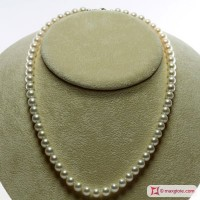 Collana Perle bianche TOP 7-7½mm L45 in Oro 18K