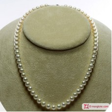 Collana Perle bianche TOP 7-7½mm L45 in Oro 18K