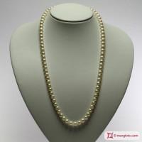 Collana Perle bianche TOP 7-7½mm L60 in Oro 18K