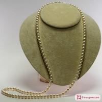 Collana Perle bianche TOP 7-7½mm L80 in Oro 18K