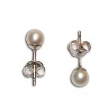Orecchini Perle 4-4½mm in Oro 18K