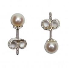 Orecchini Perle 5-5½mm in Argento