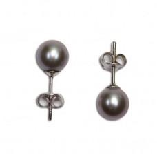 Orecchini Perle grigio 6-6½mm in Oro 18K