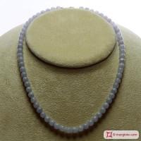 Collana Calcedonio Extra pallini 6mm in Argento